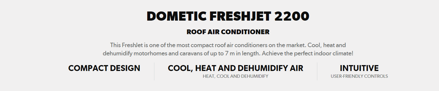 Dometic Freshjet 2200 introduction