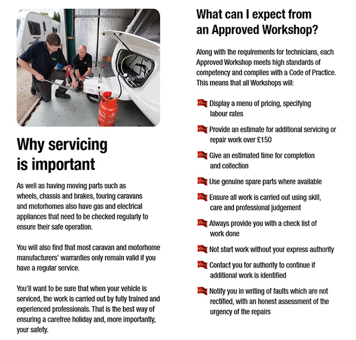 Why have your van serviced by an approved workshop scheme member part