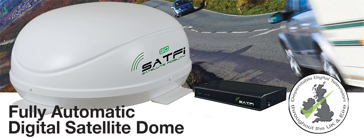 SatFi RV GO In-Motion Multi Triple LNB EU Capable Dome satellite system top banner