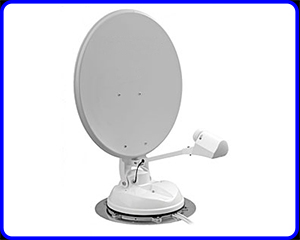 manual crank up caravan and motorhome satellite dish systems