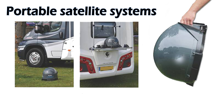 Portable satellite sysems top banner