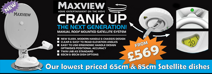 maxview crank up 65cm and 85cm satellite dish