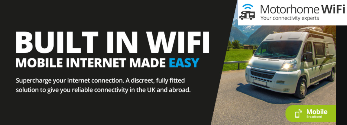 Motorhome WIFI 4G Smart Compact 4G Antenna with 4G Router & Dock top banner
