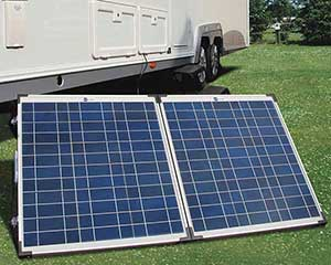 fold up solar panels front